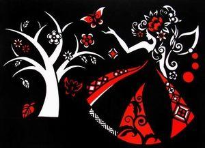 狼桃剪纸:纸境--生命树