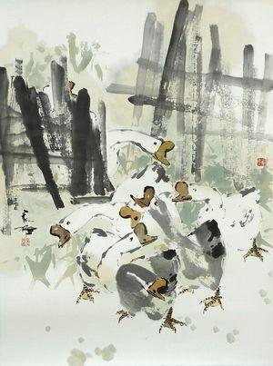 南洋大画师林家雄大写意花鸟-e